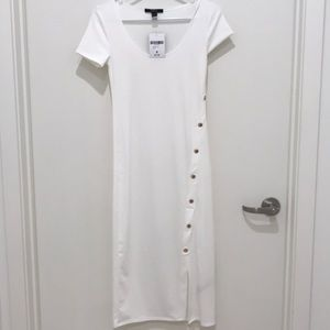 Brand New Forever 21 White Midi Dress